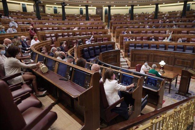 Vista general de la votación del decreto ley de medidas urgentes para reducir la temporalidad en el empleo público