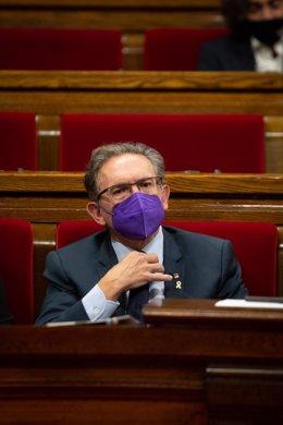 El conseller de Economía de la Generalitat, Jaume Giró, durante una sesión plenaria en el Parlament de Catalunya, a 21 de julio de 2021, en Barcelona, Catalunya (España). Durante el Pleno, el conseller de Economía ha anunciado que el Govern recurrirá al I