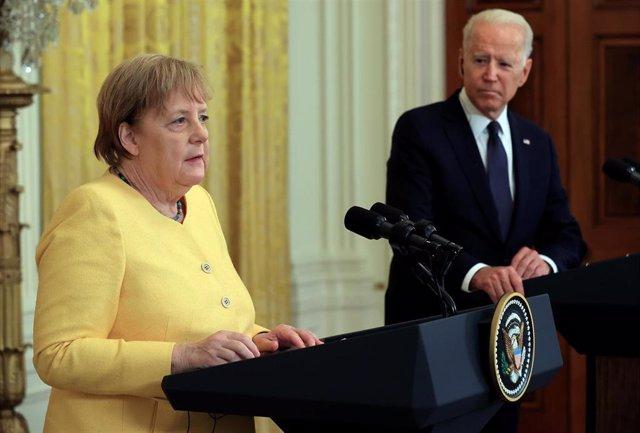 Rueda de prensa de la canciller de Alemania, Angela Merkel, y el presidente de Estados Unidos, Joe Biden