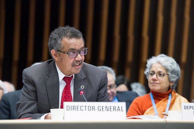 Archivo - El director general de la Organización Mundial de la Salud, Tedros Adhanom Ghebreyesus