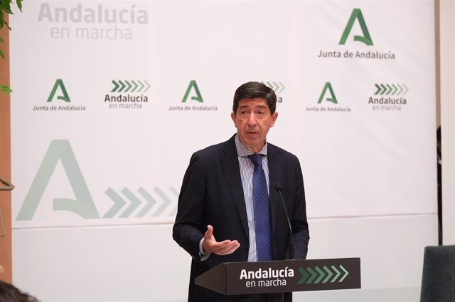 El vicepresidente de la Junta y consejero de Turismo, Regeneración, Justicia y Administración Local, Juan Marín, en una foto de archivo.