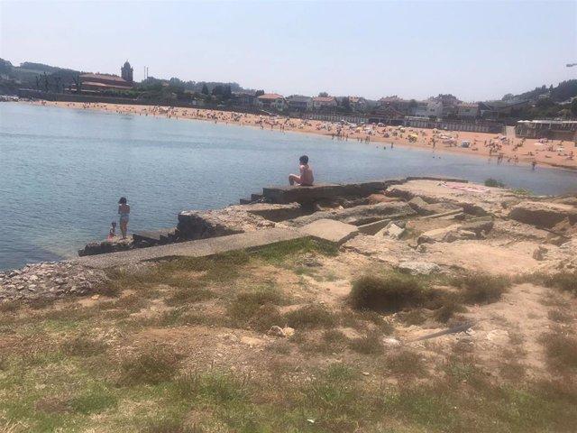 La Ramblina en la playa de Luanco.