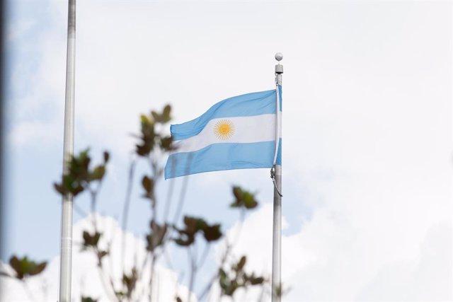 Archivo - Bandera de Argentina