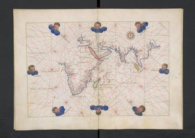 'Atlas Portulano' Manuscrito Del Siglo XVI Donado A La Biblioteca Nacional