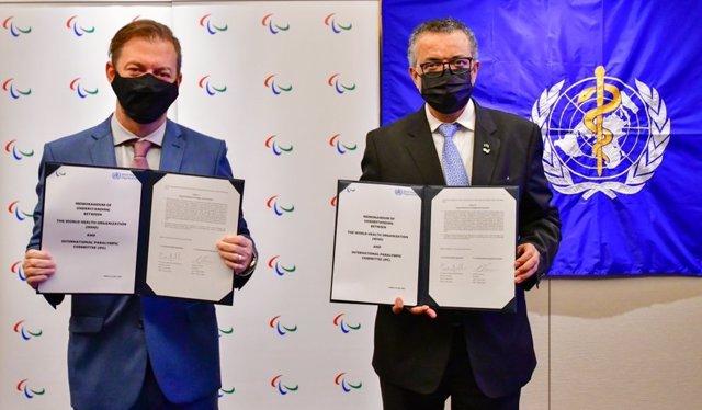 El Comité Paralímpico Internacional y la OMS firman un acuerdo para cooperar en la promoción de diversidad y equidad