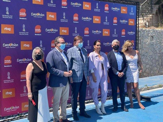 Presentación de la selección española para Eurovisión 2022 en Benidorm