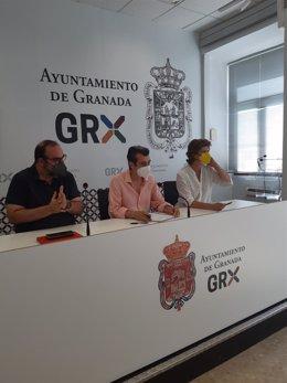 El grupo municipal de Unidas Podemos e Independientes en el Ayuntamiento de Granada