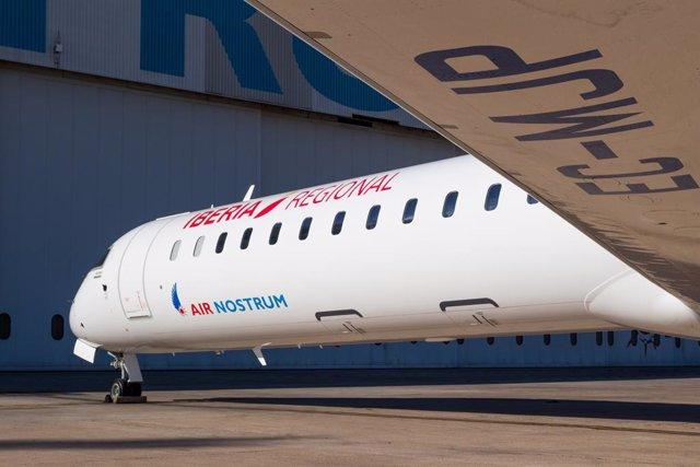 Archivo - Avión de Iberia Regional Air Nostrum.
