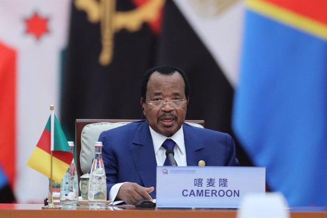 Archivo - El presidente de Camerún, Paul Biya