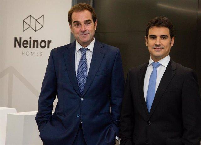 Archivo - Borja García-Egotxeaga, CEO de Neinor Homes, y Jordi Argemí, consejero delegado adjunto.