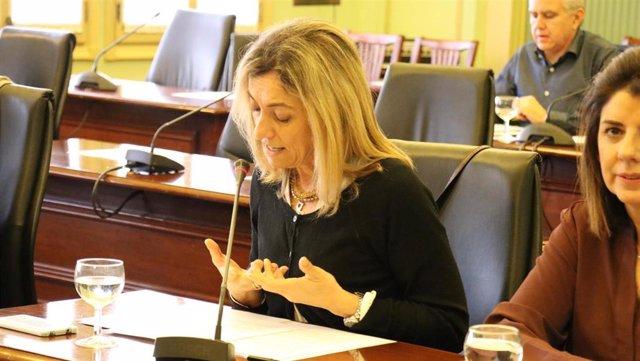 Archivo - La diputada del PP Salomé Cabrera, en una imagen de archivo en una comisión parlamentaria