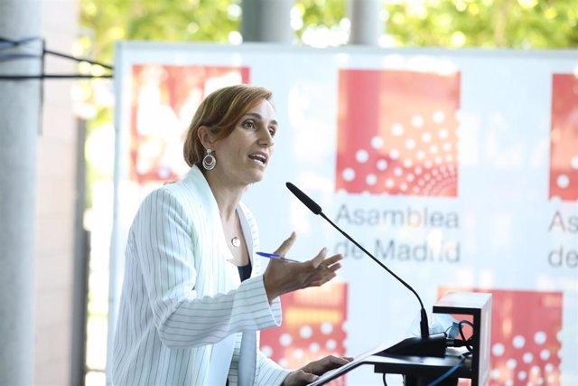 La portavoz de Más Madrid en la Comunidad y líder de la oposición,Mónica García.