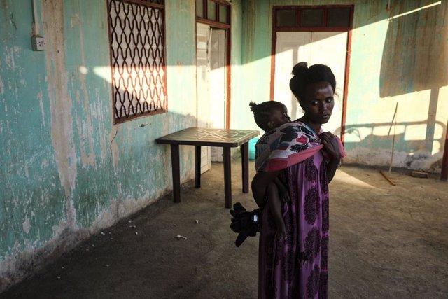 Archivo - Desplazados por el conflicto en la región de Tigray (Etiopía)