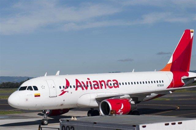 Archivo - Avión de Avianca