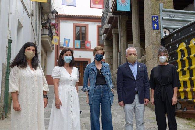 La directora de Turismo de Galicia, Nava Castro, en la presentación de la iniciativa Xacobeo Benvida