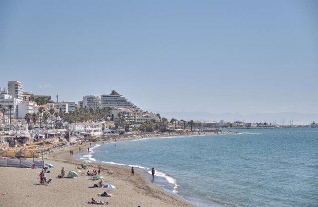 Playa de Benalmádena en una imagen de archivo