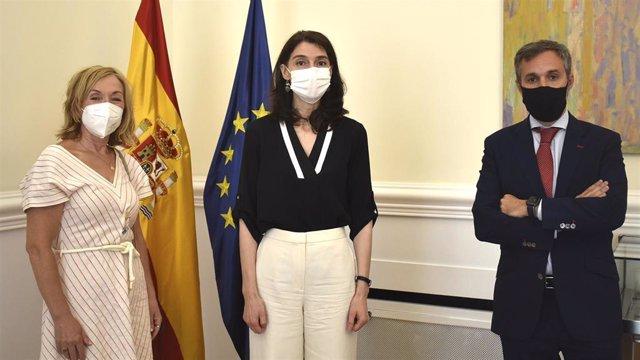 Reunión Pilar Llop y la Asociación de jueces Francisco de Vitoria
