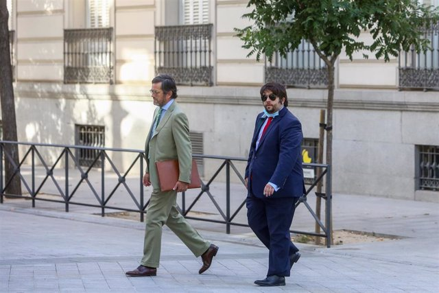 El perito Javier Rubio Alamillo a su llegada a la Audiencia Nacional para declarar en el marco de la investigación sobre la 'Operación Kitchen'.