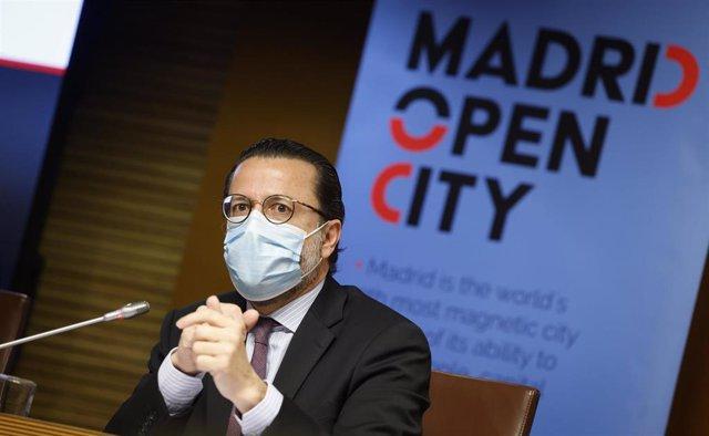 Archivo - Javier Fernández-Lasquetty, consejero de Economía, Hacienda y Empleo de la Comunidad de Madrid