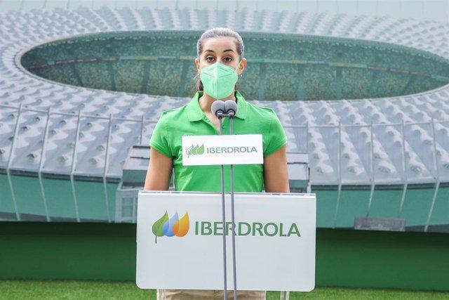 Archivo - Carolina Marín durante un acto organizado por Iberdrola