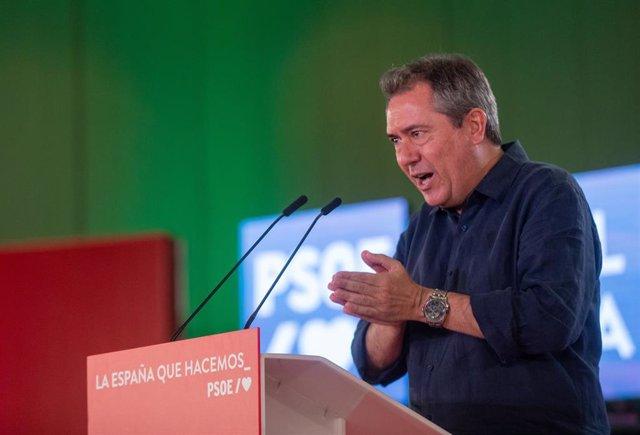El candidato socialista a la Presidencia de la Junta, Juan Espadas, en una imagen de archivo