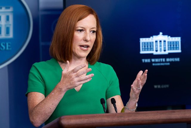 16 July 2021, US, Washington: White House press secretary Jen Psaki speaks during a press conference in the Brady Briefing Room of the White House. Photo: Michael Brochstein/ZUMA Wire/dpa