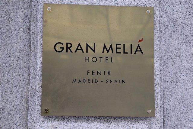 Archivo - Cartel de uno de los hoteles de la cadena Meliá Hotels ubicado en el centro de la capital. En Madrid, (España)