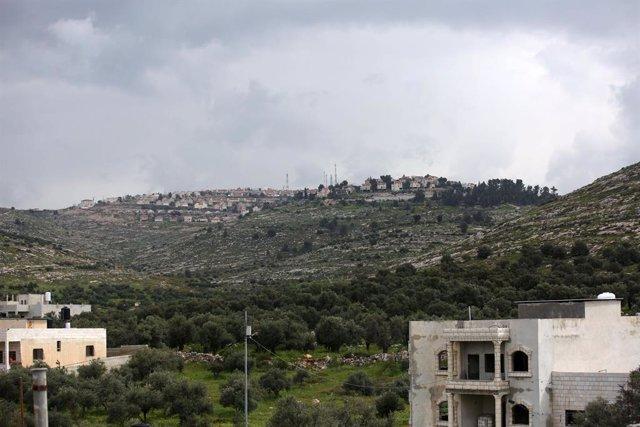 Archivo - El asentamiento israelí de Elon Moreh, en Cisjordania