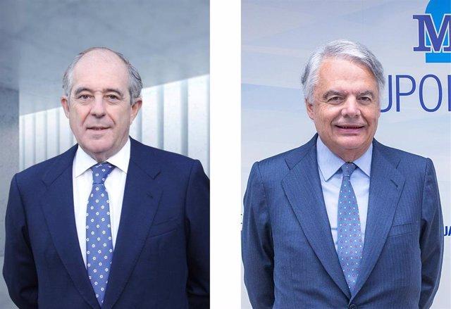 Archivo - El presidente de Orienta Capital, Emilio Soroa, y el presidente de Mutua Madrileña, Ignacio Garralda