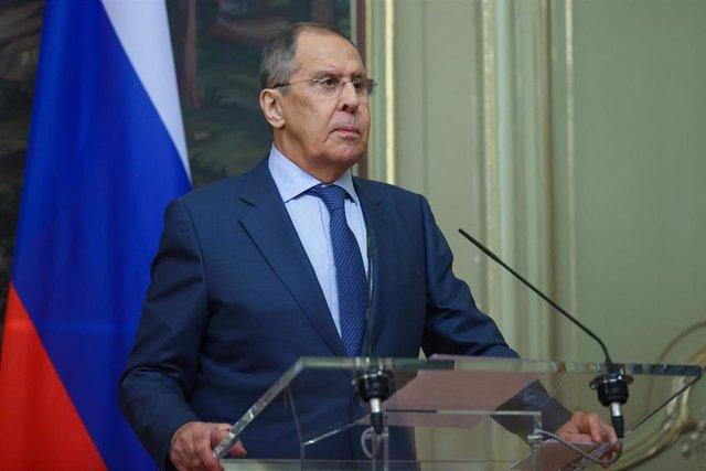 Archivo - Sergei Lavrov, ministro de Exteriores ruso.