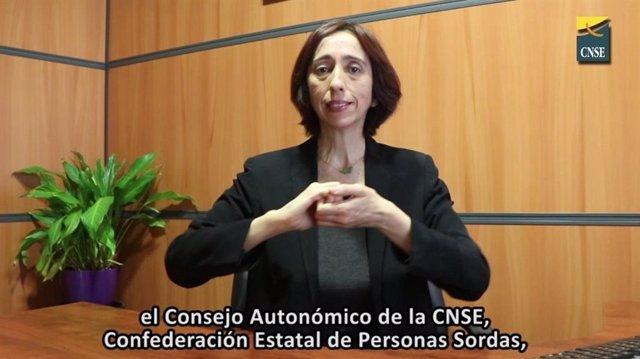 Archivo - La presidenta de la Confederación Estatal de Personas Sordas (CSNE), Concha Díaz