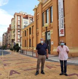 El concejal de Medioambiente, José Manuel Zúñiga, y el diputado y presidente de la Comisión para la Transición Ecológica del Congreso, Juan López de Ulalde