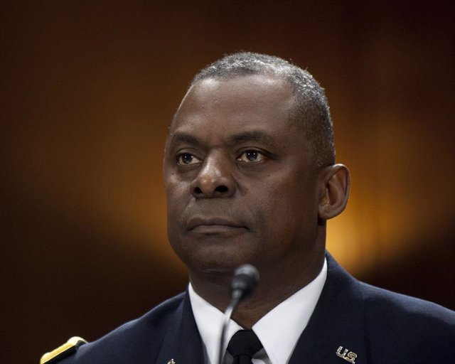 Archivo - El secretario de Defensa de EEUU, Lloyd Austin
