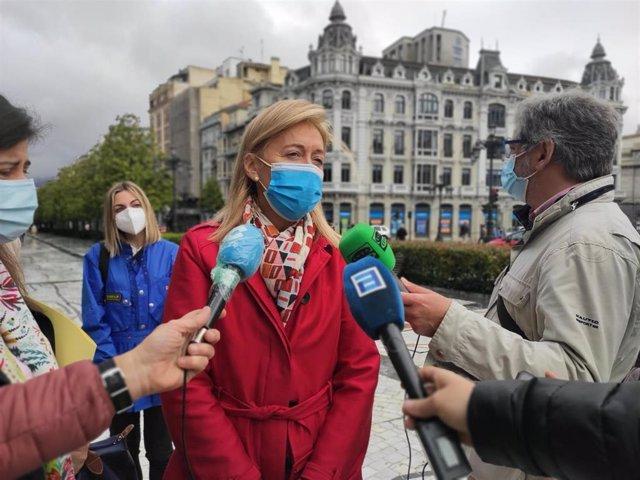 Archivo - La portavoz de Vox en el Ayuntamiento de Oviedo, Cristina Coto.