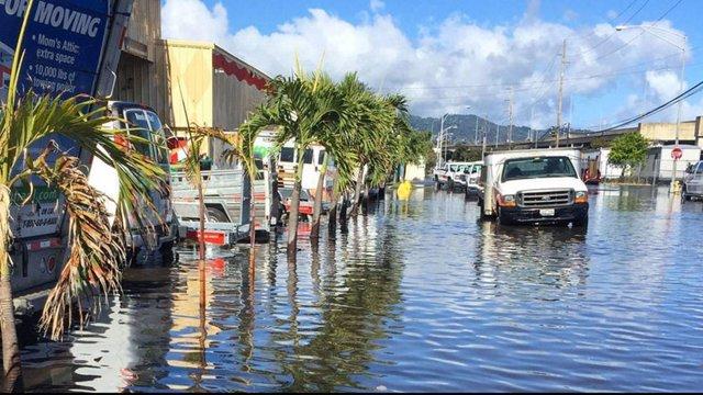 Inundacióm por marea alta en Honolulu