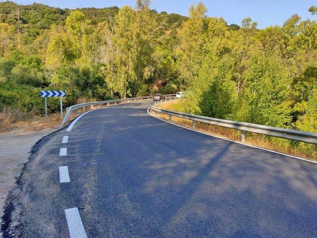 Carretera A-373R1 de acceso a Prado del Rey