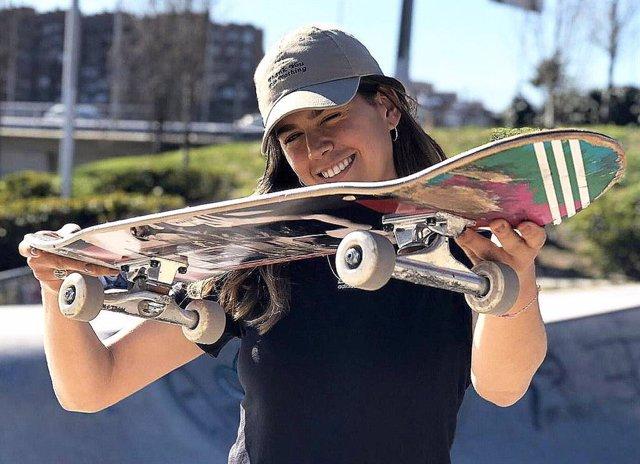 Fotografía de la skater gaditana Andrea Benítez con la que Andalucía suma 39 participantes en los Juegos Olímpicos de Tokyo 2020.