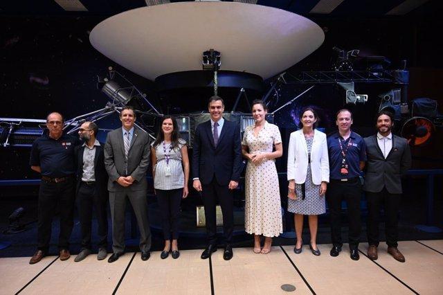 Visita de Pedro Sánchez a la NASA