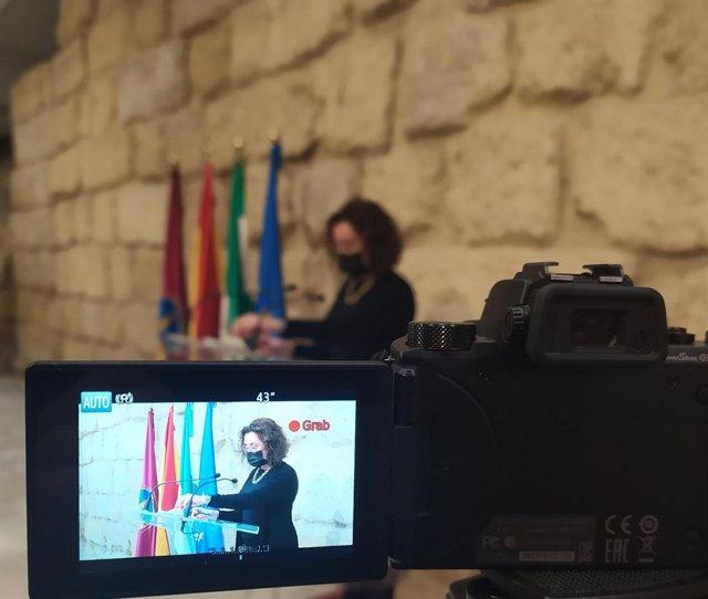 Archivo - La edil del PSOE Isabel Baena.