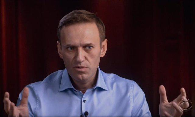 Archivo - Alexei Navalni en una entrevista con la televisión estadounidense en octubre de 2020.