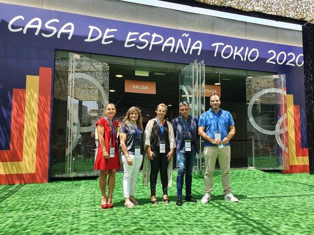 El Director General de Deportes del CSD, Albert Soler, estuvo en la inauguración de la Casa de España de los Juegos de Tokyo 2020 en Madrid.