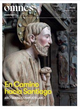 Portada del especial de la revista Omnes por el Año Santo Compostelano.