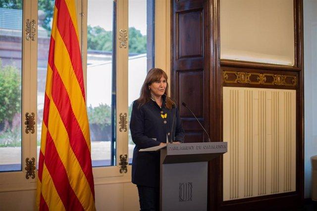Archivo - La presidenta del Parlament, Laura Borràs