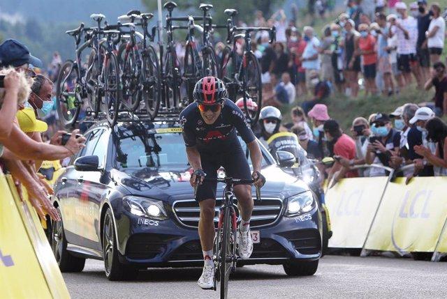 Archivo - Richard Carapaz of Ineos Grenadiers during the Tour de France 2020, cycling race stage 16, La Tour-Du-Pin - Villard-de-Lans (164 km) on September 15, 2020 in Villard-de-Lans, France - Photo Laurent Lairys / DPPI