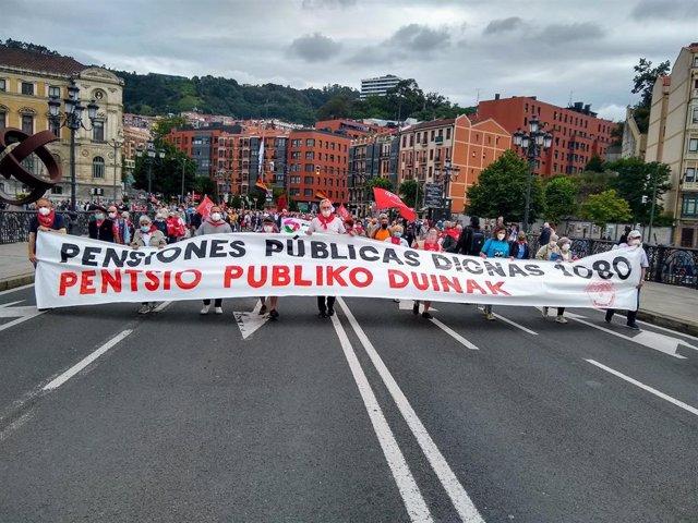 Manifestación en Bilbao del Movimiento de Pensionistas