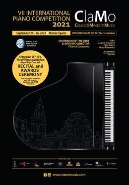 Cartel del Concurso Internacional de Piano 'Clamo Music'
