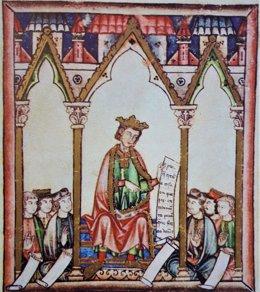 Archivo - Ilustración de Alfonso X El Sabio