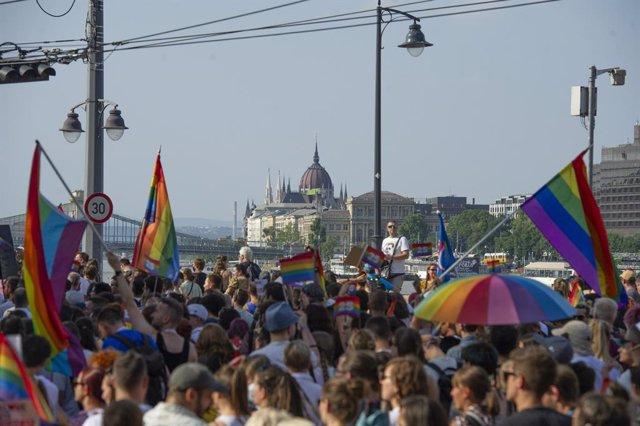 Imagen del Orgullo Gay en Budapest.