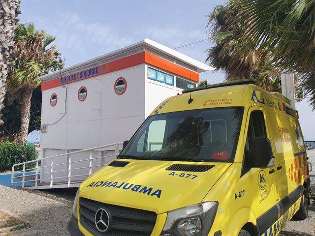 Ambulancia de la Seguridad en Playas de Almuñécar y La Herradura