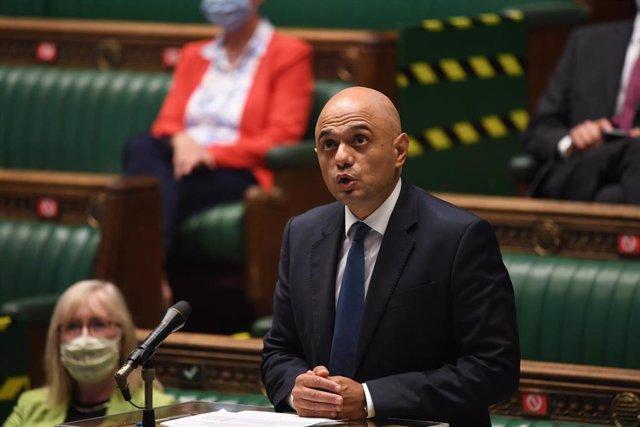 El ministro de Sanidad de Reino Unido, Sajid Javid.